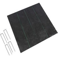 PP weeding cloth black moisturizing and breathable pp weeding cloth with 4 pegs