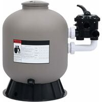 Pool Sand Filter with Side Mount 6-Way Valve Grey24853-Serial number