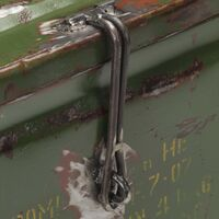 Storage Trunk Military Style 68x24x66 cm Iron27277-Serial number