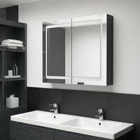 LED Bathroom Mirror Cabinet Shinning Black 80x12x68 cm28108-Serial number