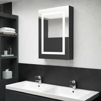 LED Bathroom Mirror Cabinet Shinning Black 50x13x70 cm28091-Serial number