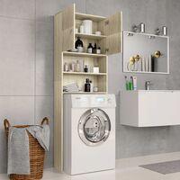 Washing Machine Cabinet Sonoma Oak 64x25.5x190 cm Chipboard34994-Serial number