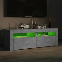 TV Cabinet with LED Lights Concrete Grey 120x35x40 cm37173-Serial number