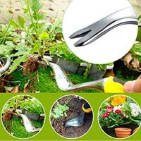 Garden Hand Weeder Manual Weed Puller Bend-Proof Weed Puller Dandelion Digger Fast and Labor-Saving Puller Weeding Tools Best weed Tool for Garden Lawn Yard
