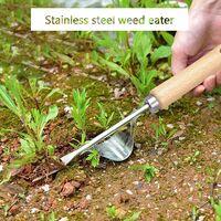 Manual Weeder Tool, Use Solid Wood Handle & Y-shaped Stainless Steel Shovel Mouth Design, Weeding Tools for Garden, Soil Loosening, Digging Vegetable, Transplant Flower Seedlings & Seedlings