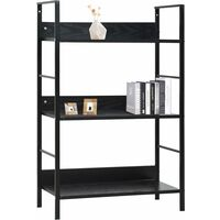 3-Layer Book Shelf Black 60x27.6x90.5 cm Chipboard17977-Serial number