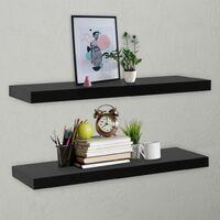 Floating Wall Shelves 2 pcs Black 120x20x3.8 cm17974-Serial number