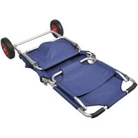 Beach Trolley with Wheels Portable Foldable Blue38254-Serial number