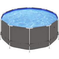Swimming Pool with Steel Frame 367x122 cm Anthracite39500-Serial number
