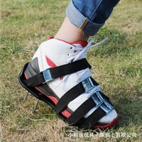 Lawn Aerator Lawn Aerator Scarifier Lawn Scarifier Lawn Nail Shoes with 4 Adjustable Straps and Metal, Universal Size Fits Shoes or Boots for Lawn Yard