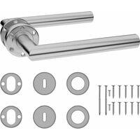 Door Handle Set with BB Deadlock Stainless Steel6120-Serial number