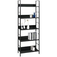 5-Layer Book Shelf Black 60x27.6x158.5 cm Chipboard17985-Serial number