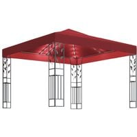 Gazebo with String Lights 3x3 m Wine Red21515-Serial number