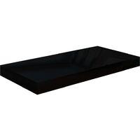 Floating Wall Shelf High Gloss Black 50x23x3.8 cm MDF27314-Serial number