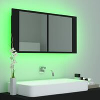 LED Bathroom Mirror Cabinet Black 90x12x45 cm37637-Serial number