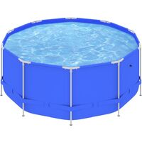 Swimming Pool with Steel Frame 367x122 cm Blue39495-Serial number