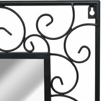 Garden Wall Mirror Rectangular 60x110 cm Black13750-Serial number