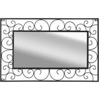 Garden Wall Mirror Rectangular 50x80 cm Black13749-Serial number
