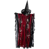 Halloween Hanging Ghost Halloween Decoration DIY [Voice Control] [Frightening Glowing Eyes] [Frightening Voice]