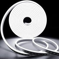 Flexible Neon Light Strips, Waterproof Neon LED Strip Light with Power Adapter and Controller, Perfect for Outdoor Indoor Decor - White