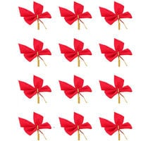 Christmas Tree Bow Decoration Balls Christmas Party Garden knots ornament - red