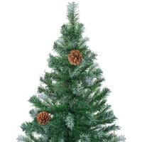 Frosted Christmas Tree with Pinecones 150 cm34821-Serial number