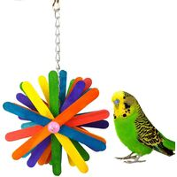 Toy for colorful birds, parrots, macaws, parrots, parakeets, cage accessories
