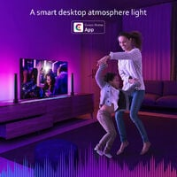 LED table lamp powered by USB RGB collecting rhythm light musical light light synchronization camera control 10 modes scene for bedroom game TV living room [energy class A]