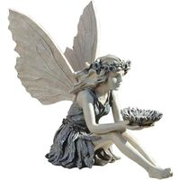 Angel Statues for Garden Fairy Statue with Wings,Elven Figurines Garden Statues Outdoor Decor Statue for Patio,Lawn ,Yard Art Decoration ,Housewarming Garden Gift
