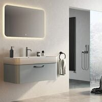 304 Rubber Stainless Steel Wall Towel Ring for Black Bathroom