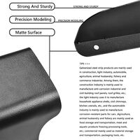 Waterproof metal cover for video camera, doorbell, door lock, access door button, protects the appliance from the sun and rain drops, is suitable for all types