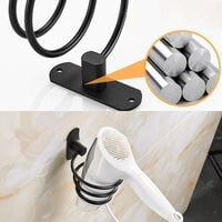 Strong Adhesive Hair Dryer Holders, Wall Hair Dryer Holder Adhesive-Hair Dryer Holder Ring-Hair Dryer Holder