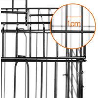 Cage à Oiseaux avec Corde de Jouet 40 x 40 x 58 cm Cage pour Perruche Canari Calopsitte Ouverture Supérieure - Noir