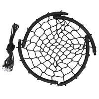 Balançoire nid d'oiseau maille filet 120 cm à suspendre ajustable enfant adulte jardin extérieur 200 kg, noir - Noir