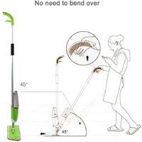 Mop Spray / Pico Spray balai vaporisation serpillière en microfibre hot - Vert