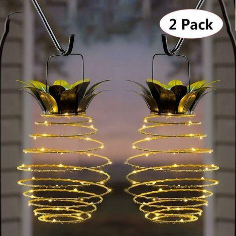 Solar in ferro battuto lampada ananas all'aperto decorazione della corte paesaggio rame filo lampada in rame filo impermeabile giardino impermeabile giardino decorazione lampada sospesa