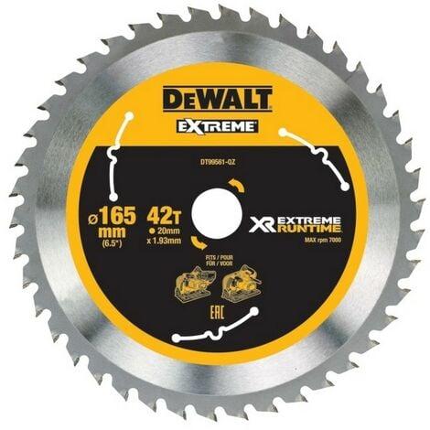 DEWALT DT99561-QZ - portablelames de scie Circulaire XR EXTRÊME RUNTIME 165mm x 20mm 42D 10 °