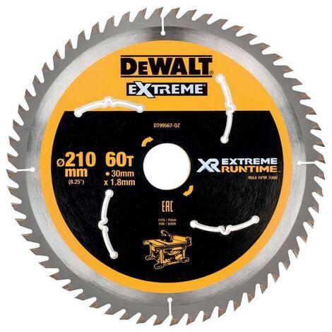 DEWALT DT99567-QZ - stationarylames de scie Circulaire XR EXTRÊME RUNTIME 210mm x 30mm 60D 20 °