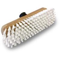 Balai brosse lave-pont synthétique - Monture bois - Douille vissante plastique  - Quantité x 1 - Synthétique sans manche