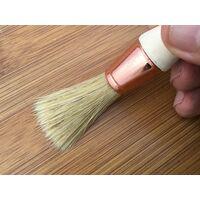Pinceau de pouce - Brosse ronde soie blanche - Peinture rénovation volets moulure plinthe angle persienne - Quantité x 1 - Ø 15 mm