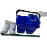 Kit lave sol seau 2 compartiments | 2 serpillères - A l'unité - Kit lave-sol