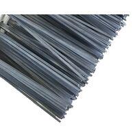 Balai cantonnier métallique | Garnissage acier plat gris | Semelle bois - Quantité x 1 - Acier plat gris - Sans manche