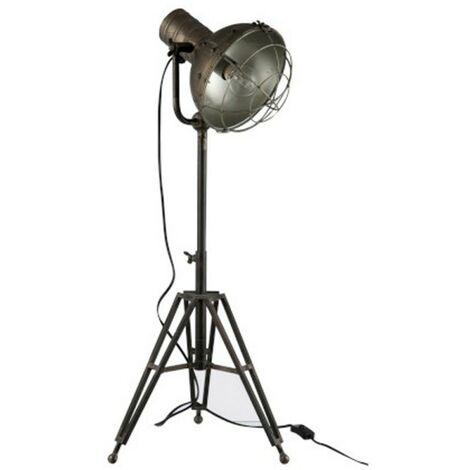 Paris Prix - Lampe à Poser Industrielle néo 93cm Gris