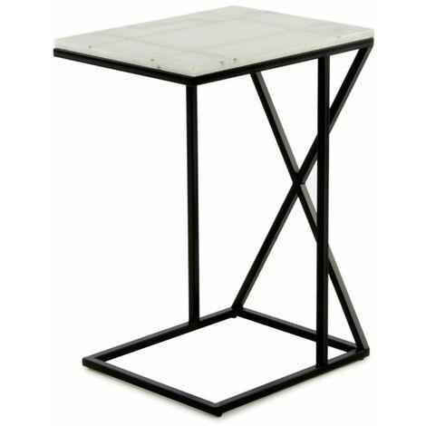 Paris Prix - Table D'appoint En Marbre louis 61cm Blanc