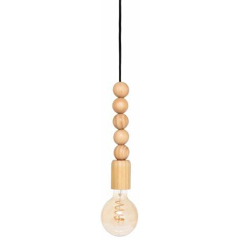 Lampe Suspension en Bois Nino 25cm Beige