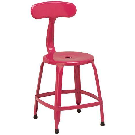 Premier Housewares Hot Pink Powder Coated Metal Disc Chair