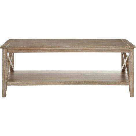 Premier Housewares Dark Wooden Coffee Tables Slim Narrow Coffee Table Natural Brown Home Coffee Table Pine Wood Table Coffee w120 x d60 x h45cm