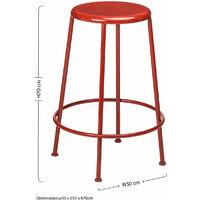 Premier Housewares Artisan Red Metal Bar Stool