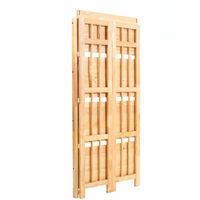 Premier Housewares Rubberwood Racking Storage Shelving Unit 4-Tier Folding Shelving Unit Garage Storage Bathroom Organiser Shelving 115 x 54 x 30 cm