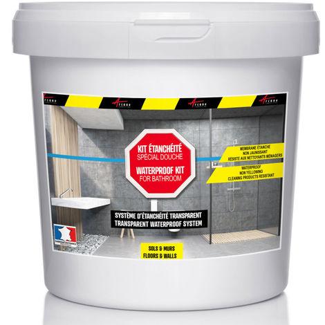 étanchéité transparente douche salle de bain sur carrelage en kit - ARCANE INDUSTRIES - Transparent - Kit de 2m2